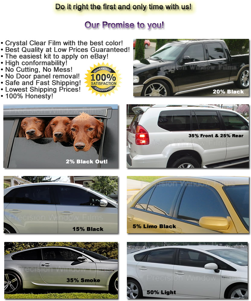 precut all sides u0026 rears window film any tint shade for toyota car