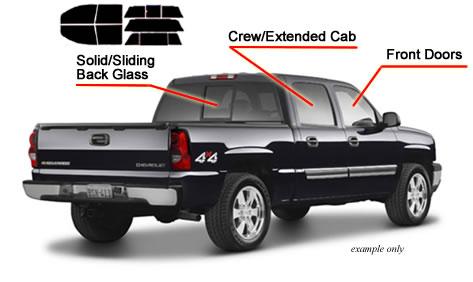 PreCut Window Tint Chevy Silverado GMC Sierra 73-87 Standard Cab Any Film Shade